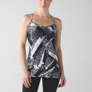 Lululemon Athletica Power Y tank Luon black white